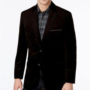 Alfani Men's Slim Fit Velvet Two Button Blazer